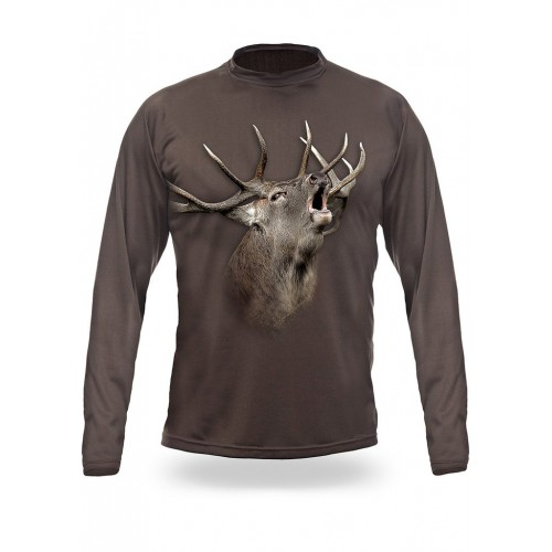 ELK /RED DEER 3D T-Shirt Long Sleeve