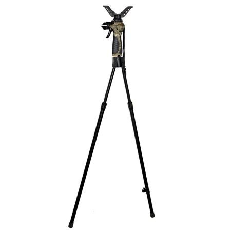 2 osaline teleskoopiline ja automaatne püssitugi relvale.