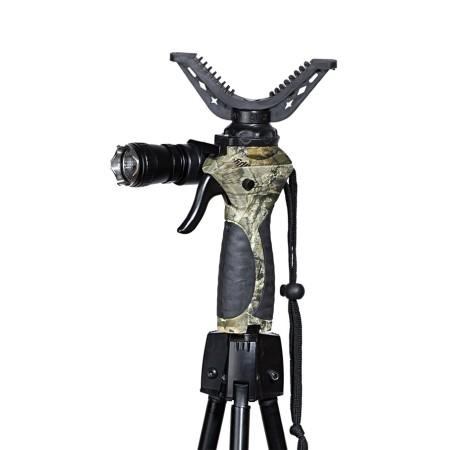 3 jalaga teleskoopiline ja automaatne püssitugi relvale.