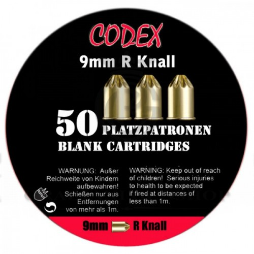 Paukpadrunid Codex 9 mm R Knall. 50 tk.