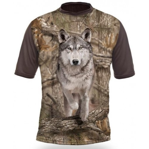 T-Shirt Short Sleeve. Wolf.