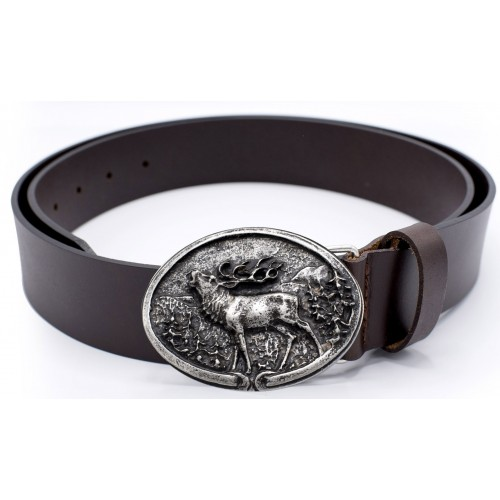 Leather Belt Red Deer
